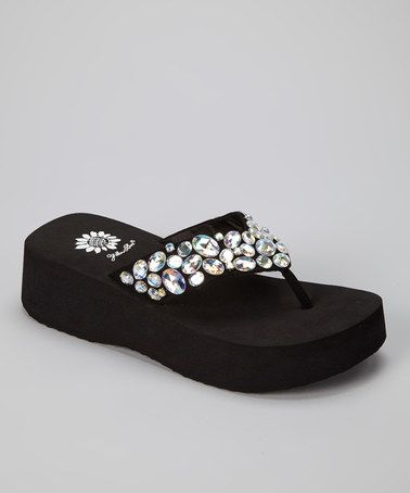 Take a look at this Clear Bogota Wedge Sandal by Blow-Out on @zulily today!