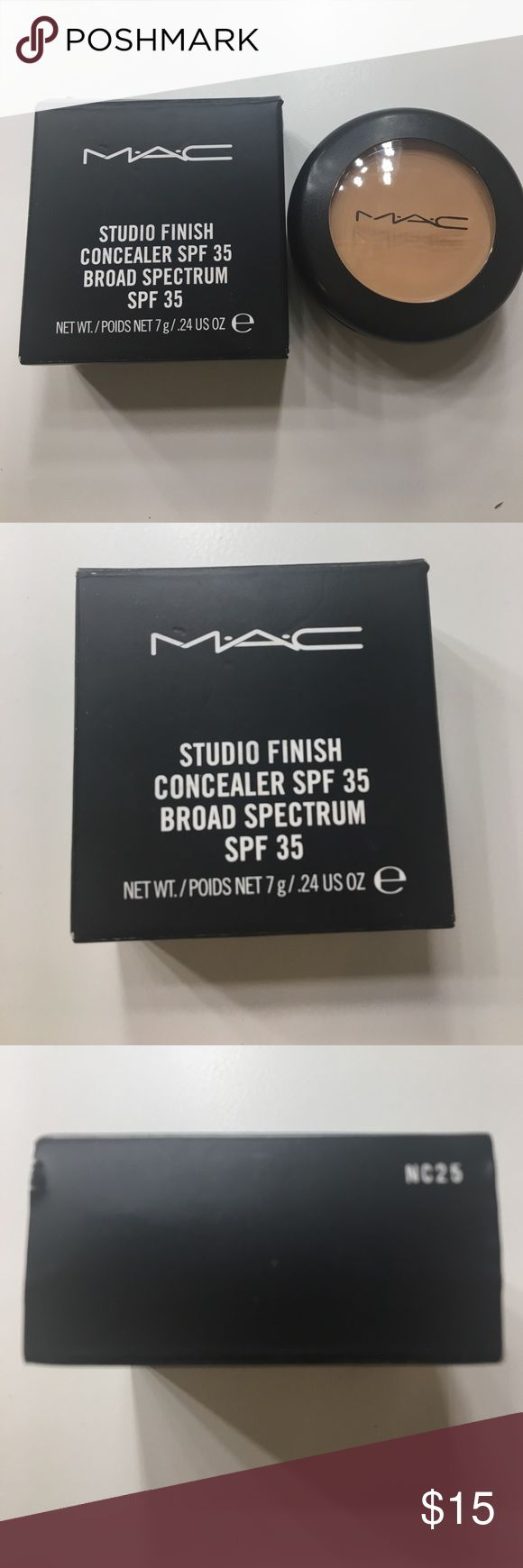 MAC Studio Finish Concealer NC25 - brand-new. MAC Studio Finish Concealer NC25 - brand-new, never used! I have shade NC10 as well. MAC Cosmetics Makeup Concealer