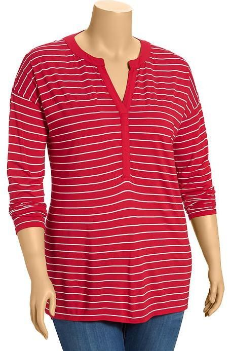 Old Navy Women's Plus Striped Jersey Pullovers on shopstyle.com.au