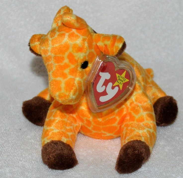 TY Beanie Babies Rare Original #Twigs the #Giraffe 1995 Mint Protected Tag #Ty