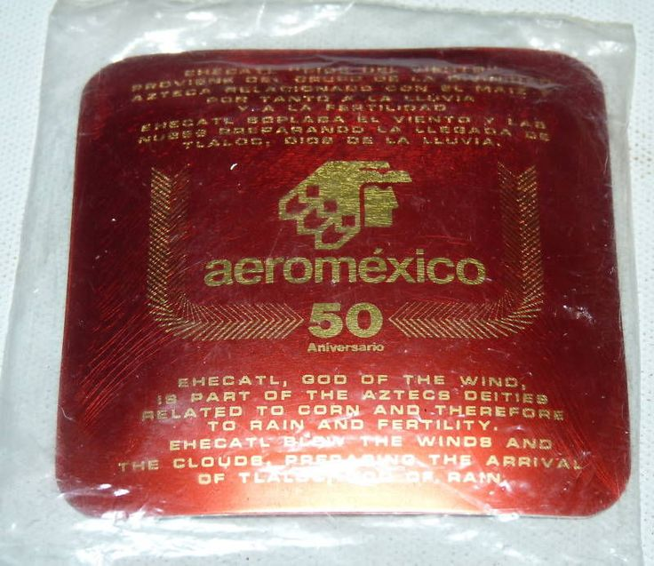 Vintage Aeromexico Mexico Mexican Airlines inflight Art Dish a6 #aeromexico