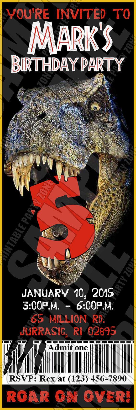 Jurassic park card 3 by chicagocubsfan24 on deviantart - Jurassic Park Invite Printable Birthday By Printablepartyzone