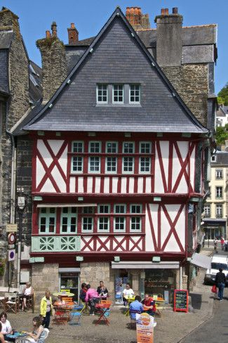 Old Town, Morlaix, Brittany, France