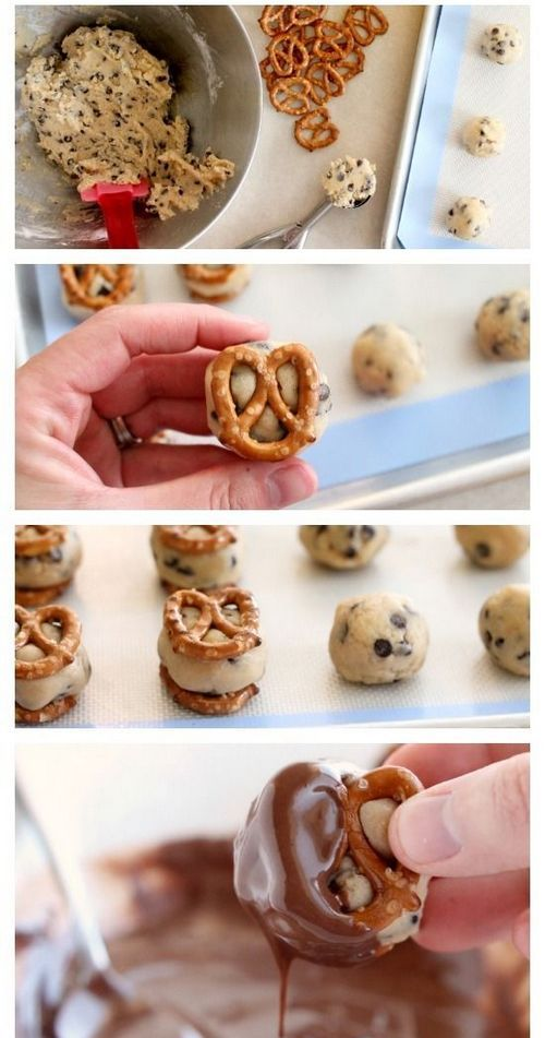 Cookie Dough Pretzel Bites | Cook & Taste - See full instructions on: www.dessertnowdinnerlater.com