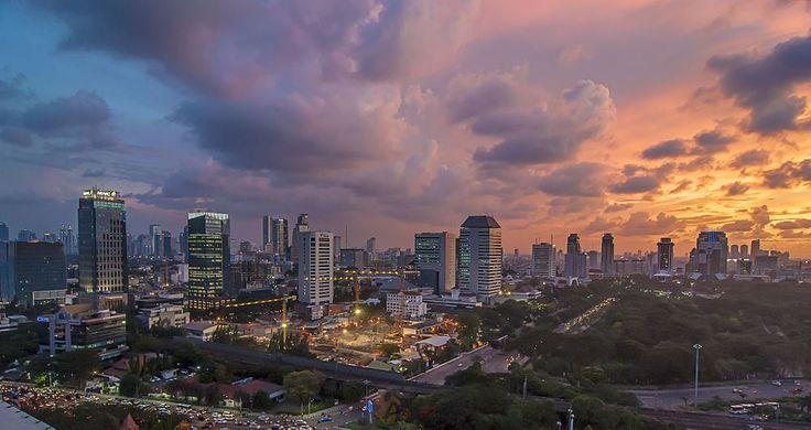 Jakarta Cityscape by Anggit Priyandani