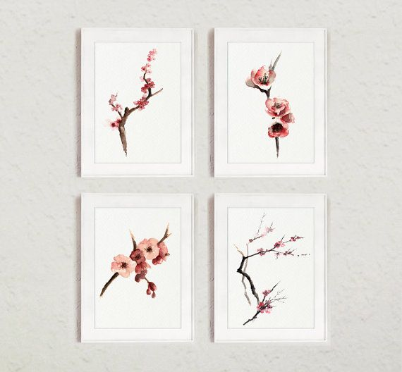 Cherry blossom wall decorations Cherry blossom by ColorWatercolor