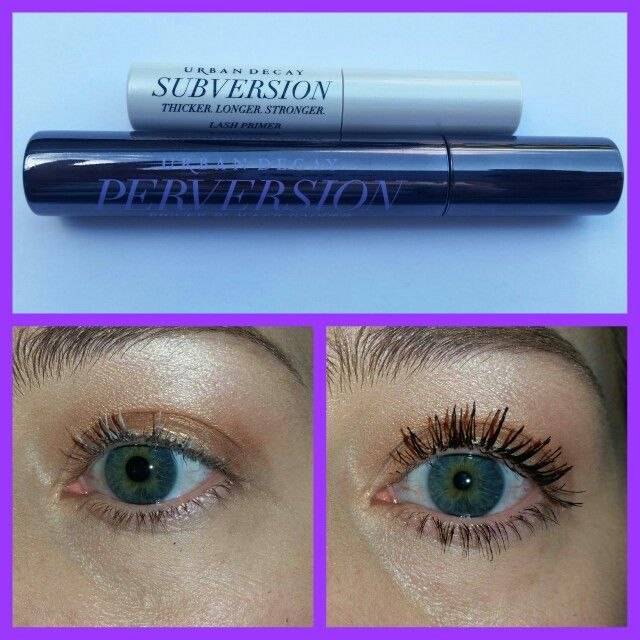 Urban Decay Perversion Mascara! Before and After
