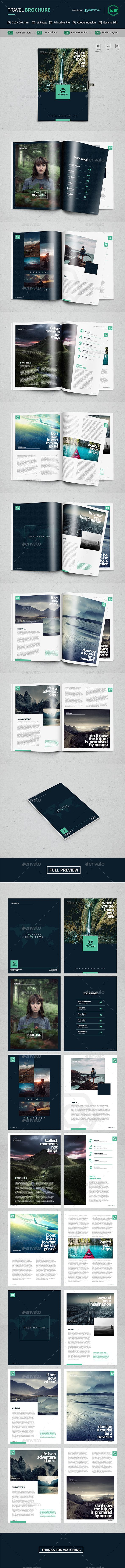 Brochure Travel - Brochures Print Templates | Download: https://graphicriver.net/item/brochure-travel/18722862?ref=sinzo