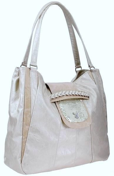 Bolso Playboy Sequin Large Bag Cream