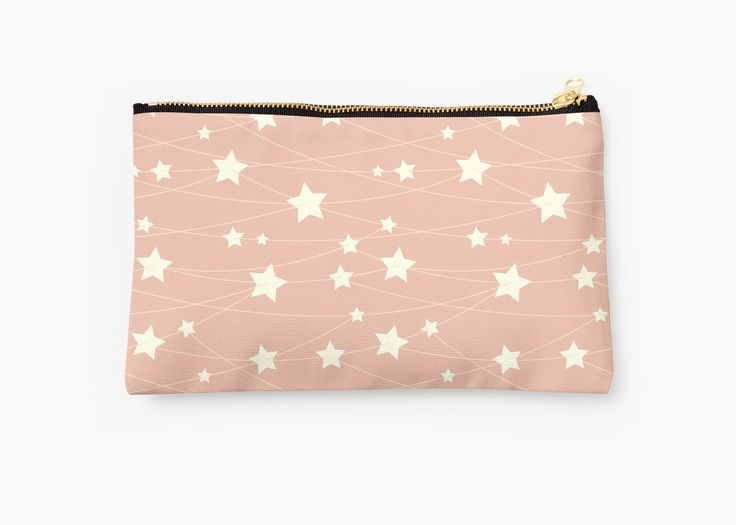 Hanging Stars - ashy pink by LunaPrincino  #redbubble #print #prints #art #design #designer #graphic #for #women #shopping #fashion #style #pattern #texture #pretty #cute #beautiful #girlish #dreamy #hanging #stars #ashy #pink #and #cream #beige #fantasy #starry #pale #pastel #magic #gift #idea #ideas #trend #summer #spring #accessories #pouch #beauty #stylish #stylist #beautician #cosmetics