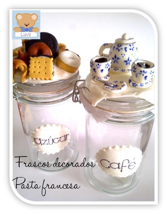 hermosos frascos realizados en porcelana fría