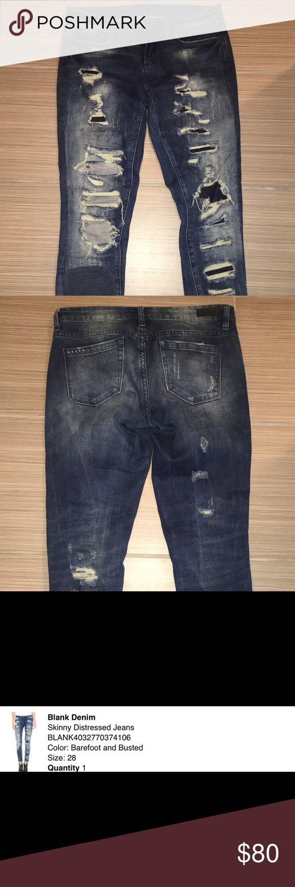 Blank denim skinny jeans size 28 Like new blank denim nyc skinny jeans. Worn twice! Blank Denim Jeans Skinny