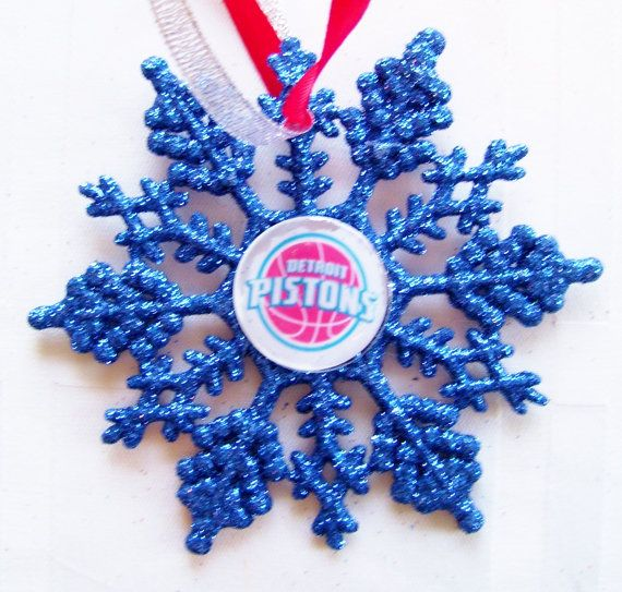 Detroit PISTONS Basketball Fans Christmas Ornament by ZZsTeamTime