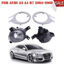 4 STKS Voorbumper Grill Covers met Mistlamp Lampen Voor Audi A3 A4 B7 2004-2008 met Bollen H11 Auto-accessoires # P326(China)