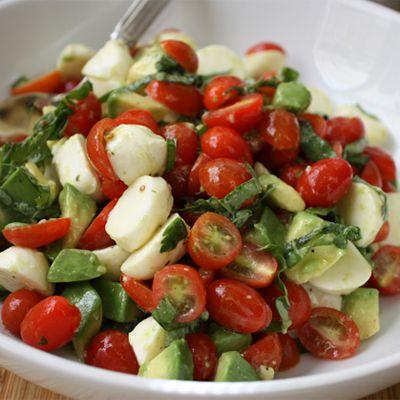 Mozzarella, Tomatoes, Avacado Salad