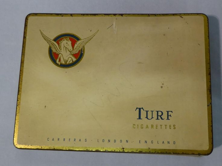VINTAGE TIN FOR TURF CIGARETTES (CARRERAS) | eBay