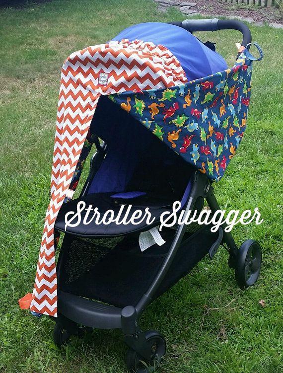 """Stroller Shades, Stroller Cover, Stroller Swagger, Baby Stroller, Stroller Sun Shade, Stroller Canopy Cover """"Jackson"""""""