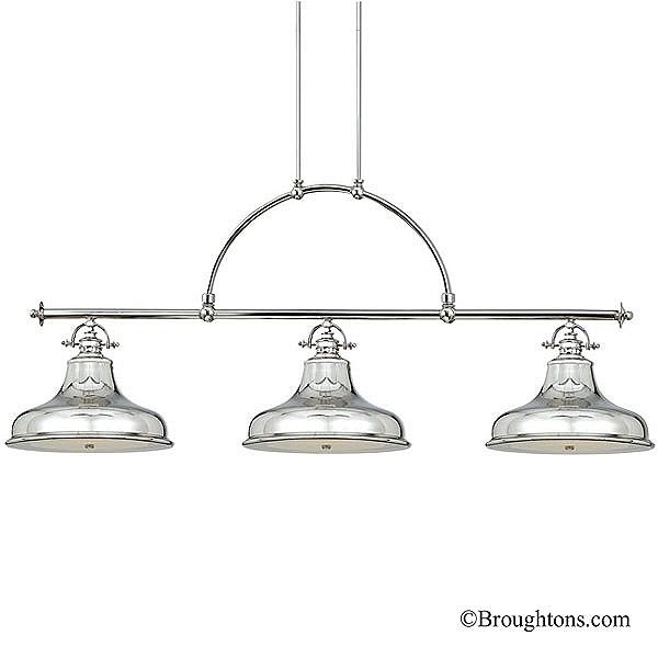 Quoizel emery dining or island light silver