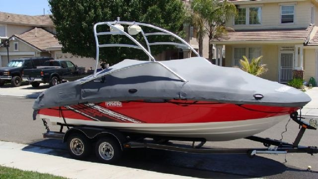 21 feet  2008 Yamaha AR210 Jet Boat , Red/White for sale in French Camp, CA