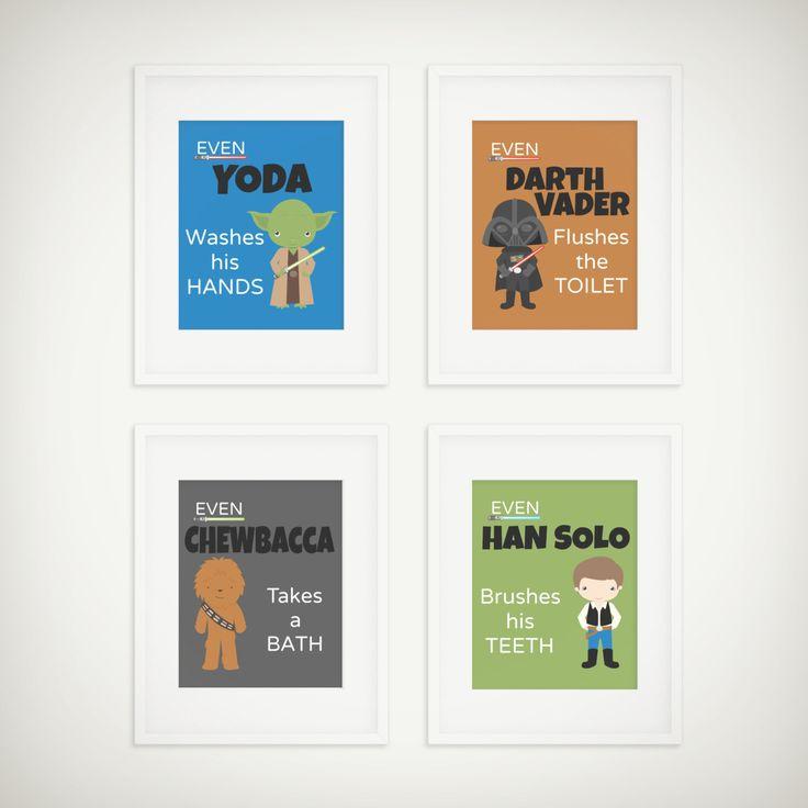 Star Wars Bathroom Prints   Space Wars Print   Kids Bathroom Decor   Star  Wars Print   Star Wars Decor   Kids Bathroom   Set Of 4 Prints