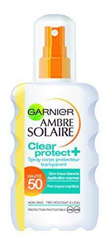 Garnier Ambre Solaire Clear Protect+ Spray Corps Protecteur Transparent FPS 50 200 ml: GARNIER-Garnier Ambre Solaire Spray Clear Protect…