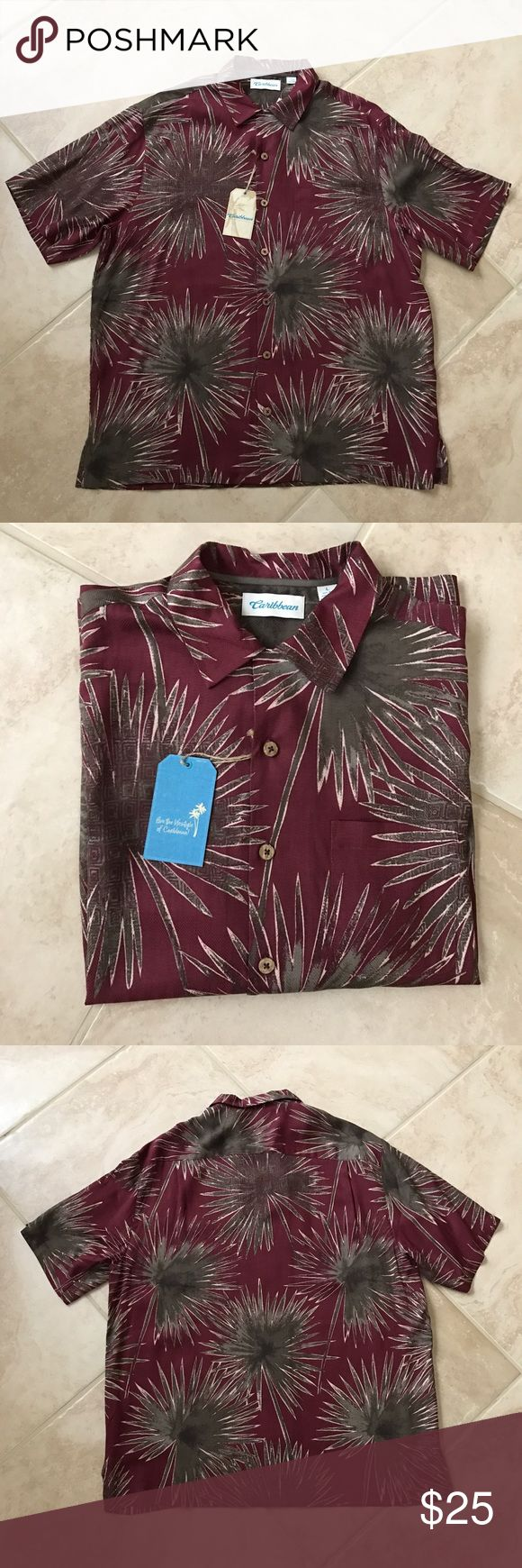 Roundtree & Yorke Caribbean shirt Brand new with tag 55% silk 45%rayon. Roundtree & Yorke Shirts Casual Button Down Shirts