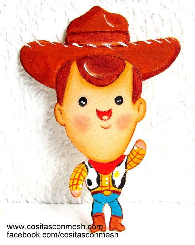 """Dulcero por día del niño, haremos a uno de los personajes de toy story versión bebé """"el sheriff woody"""" en foami o goma eva."""