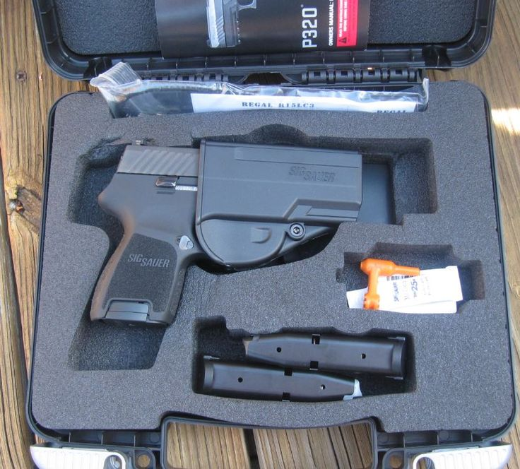 Sig P320 Sub-Compact 9mm in Hardcase with 2 Mags, Holster, Lock & Manual