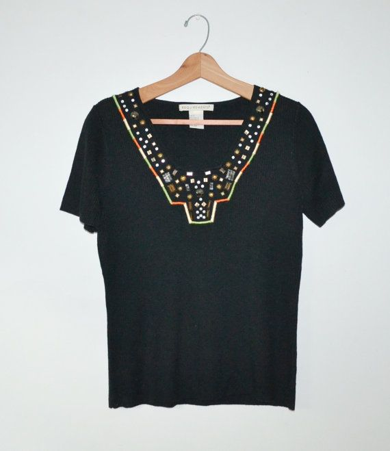 Vintage 80s Shirt Aztec Shirt Southwestern Top by founditinatlanta