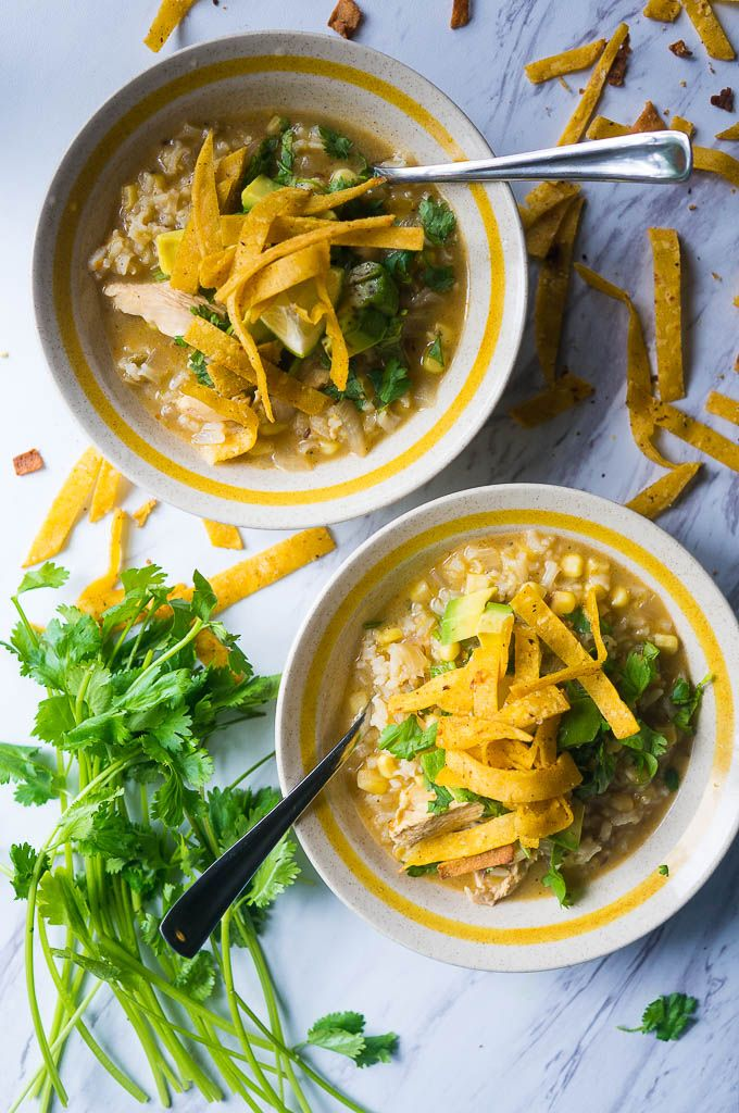 Hatch Chile Chicken Tortilla Soup. This soup is SO flavorful, hearty but light, and full of fresh, seasonal goodies!