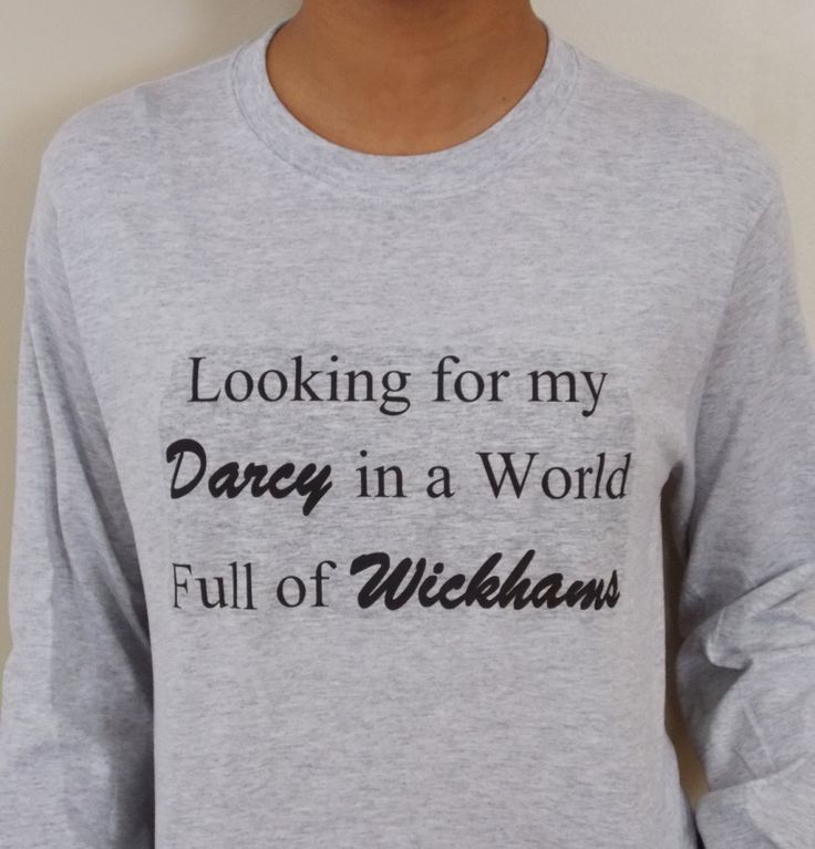 Looking for My Darcy Pride and Prejudice Long Sleeve T-Shirt. (20.00 USD) by GoodWitchBoutique