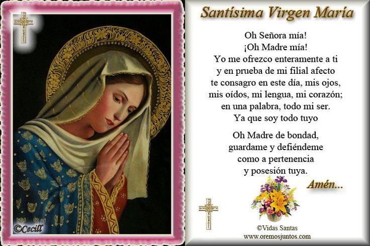 Rincón de la Oración: Estampas Oraciones de la Virgen María