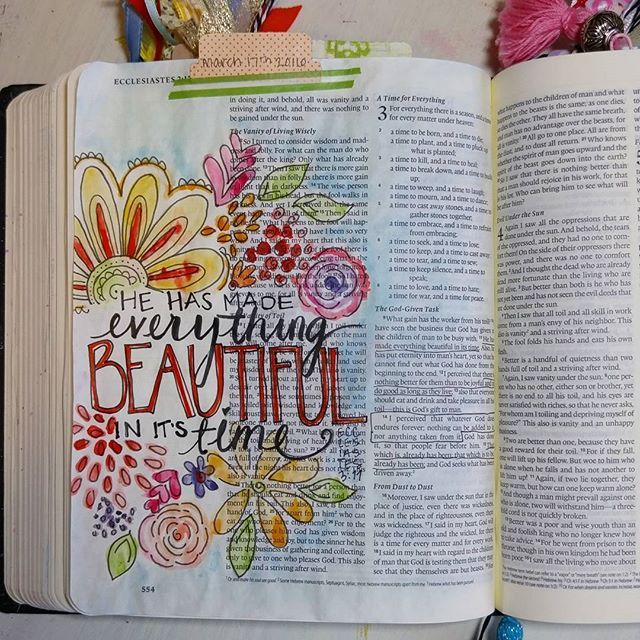 Bible Journaling by Shawna Clingerman @shawnaclingerman
