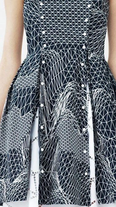 RESORT 2014 Christopher Kane. #optical #futuristic