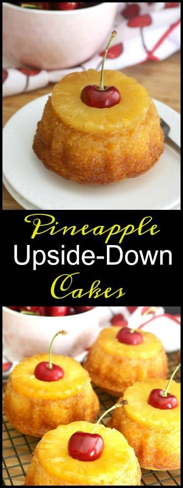 Pineapple upside-down cake (baking recipes cupcakes pineapple upside)