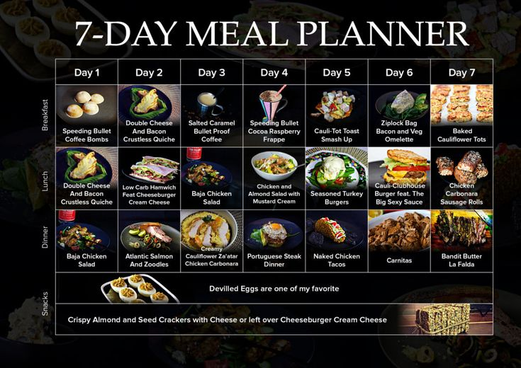 7 DAY MEAL PLANNER