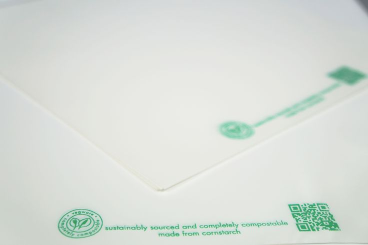 100% compostable White PLA bags #Surepak #Packaging #Sustainable #Biodegradable #Ecofriendly