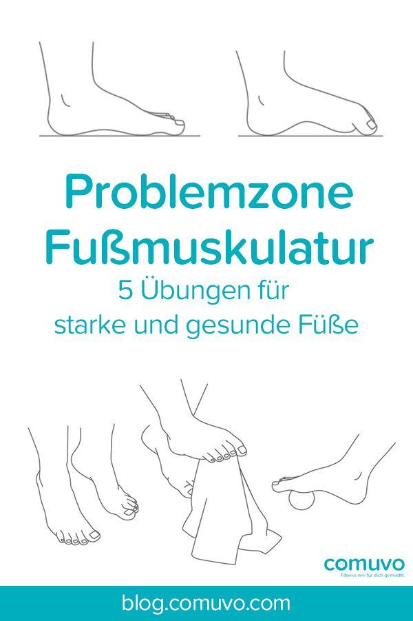 Problemzone Fußmuskulatur – 5 Übungen für starke und gesunde Füße  Schmerzende Füße – Wer kennt das nicht? Egal ob nach einem langem Arbeitstag oder dem Sport: Die Belastungen unseres Alltags spiegeln sich oft schmerzhaft in unseren Füßen wieder. Und doch werden diese hochempfindlichen Sensoren, die in ständiger Koordination mit dem zentralen Nervensystem zusammenarbeiten, viel zu oft vernachlässigt. Vor allem wenn es um das gezielte Training der Fußmuskulatur geht.