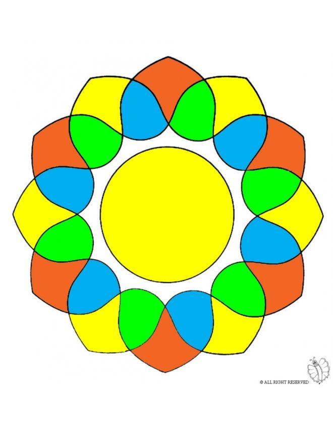 Disegno: Mandala 5. Disegni colorati per bambini da stampare gratis. Puoi stampare, scaricare il disegno o guardare gli altri disegni simili a questo. disegnidacolorareonline.com.