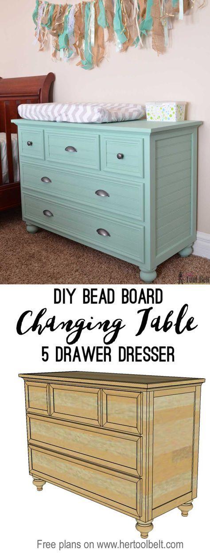 5 drawer dresser changing table
