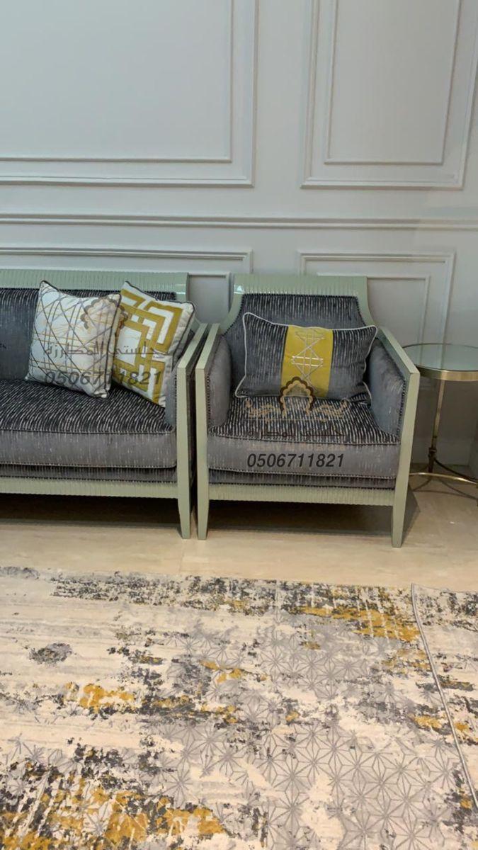 كنبات روعة فحمث موديل سيا من تصميم وتنفيذ جلستي المطرزة جوال 0506711821 Interior Wall Design Outdoor Sofa Design