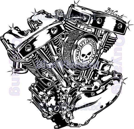 Best Harley Davidson Garage Images On Pinterest Harley - Stickers for motorcycles harley davidsons