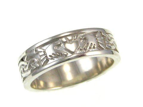 NB Celtic Design - the home of fine Celtic & Claddagh Jewelry.  This ring Symbolises Love (heart) Loyalty(crown) and Friendship(hands) . Beautiful