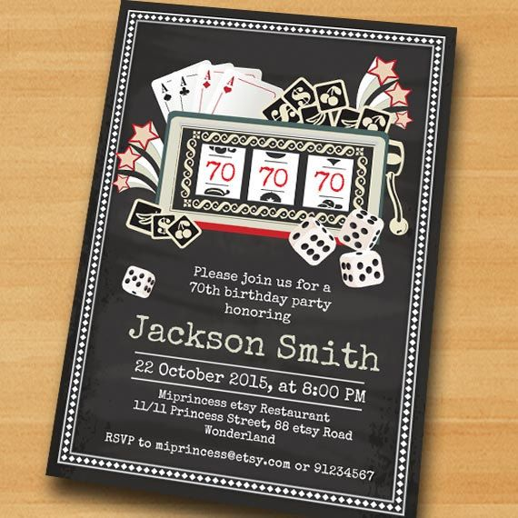 Gambling themed birthday cards