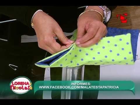 Lorena y Nicolasa: sepa cómo hacer decorativos cestos con tela - YouTube