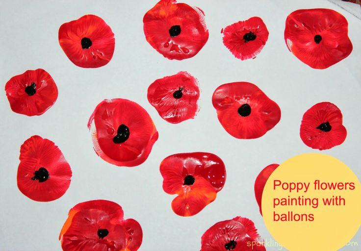 Poppy flowers . Very simple project to do with toddlers, preschoolers or elementary school kids!