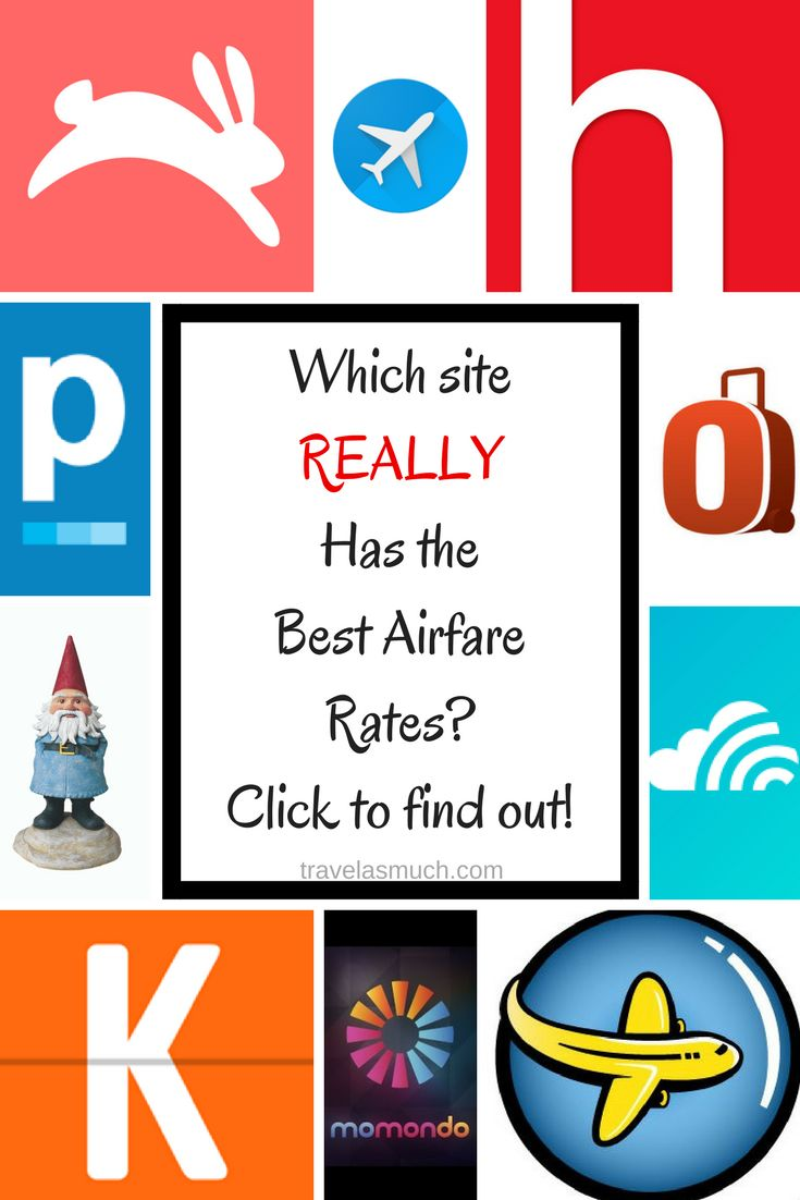 Ten websites tested to see which one provided the best airfare rates.  The results may surprise you!