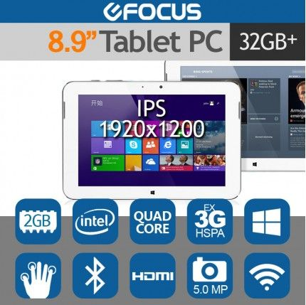 "iFive MX2 8.9"" FHD Tablet PC Intel Quad Core 2G/32G 5MP Windows 8.1"