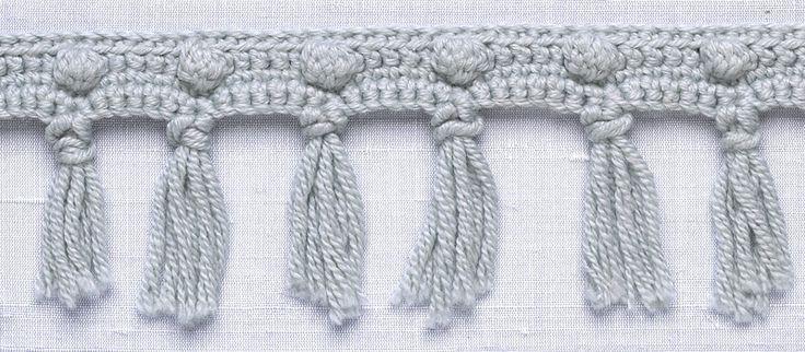 free pattern - Popcorn Fringe trim from Lion Brand Yarns