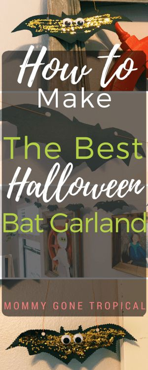How to make the best Halloween bat garland? I will show you how! All you need are the basic items you should already have in your home. So easy and cheap!